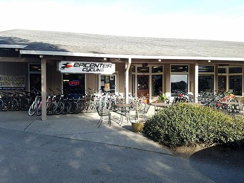 Locally owned and operated, Epicenter Cycling offers two convenient locations with ample parking. Pictured here is the Aptos store located at 8035 Soquel Drive in the Village. There is also a store on the west side of Santa Cruz at 1730 Mission Street.