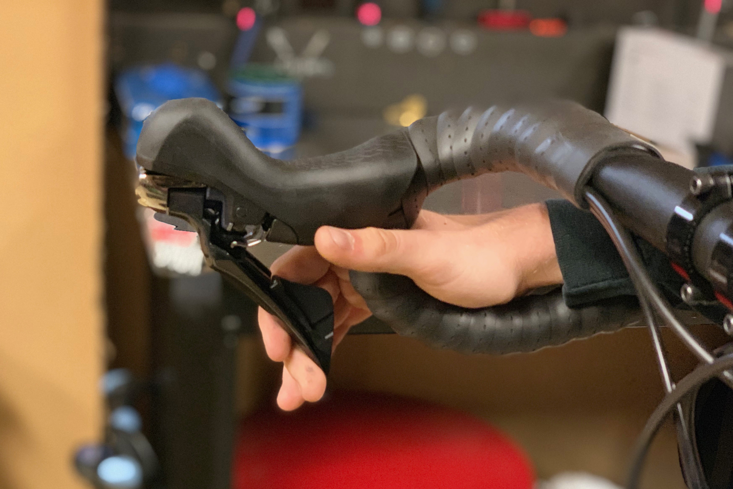 Your brake levers should have enough tension to pull to about one inch from the handle bars.