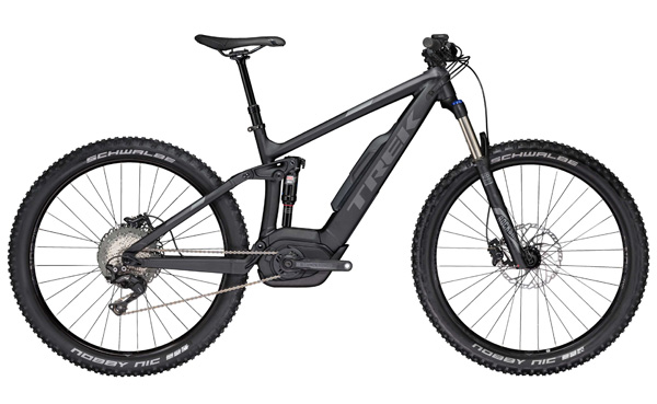TREK POWERFLY FS 7 PLUS  This full suspension electric mountain bike is ideal for trail adventures.