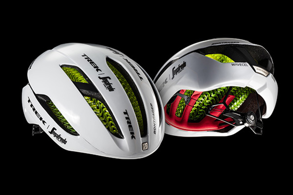 < Bontrager XXX WaveCel - An aerodynamic road bike helmet with advanced WaveCel technology for the best in protection and performance. Available in White Gloss, Black Matte, Azure/Black Matte, Red Gloss, or Radioactive Yellow/Black Matte.