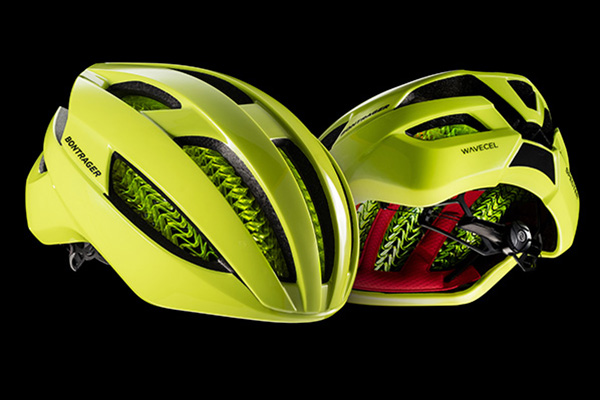 "Bontrager Specter helmet with WaveCel technology in ""Hi-Vis Yellow."""