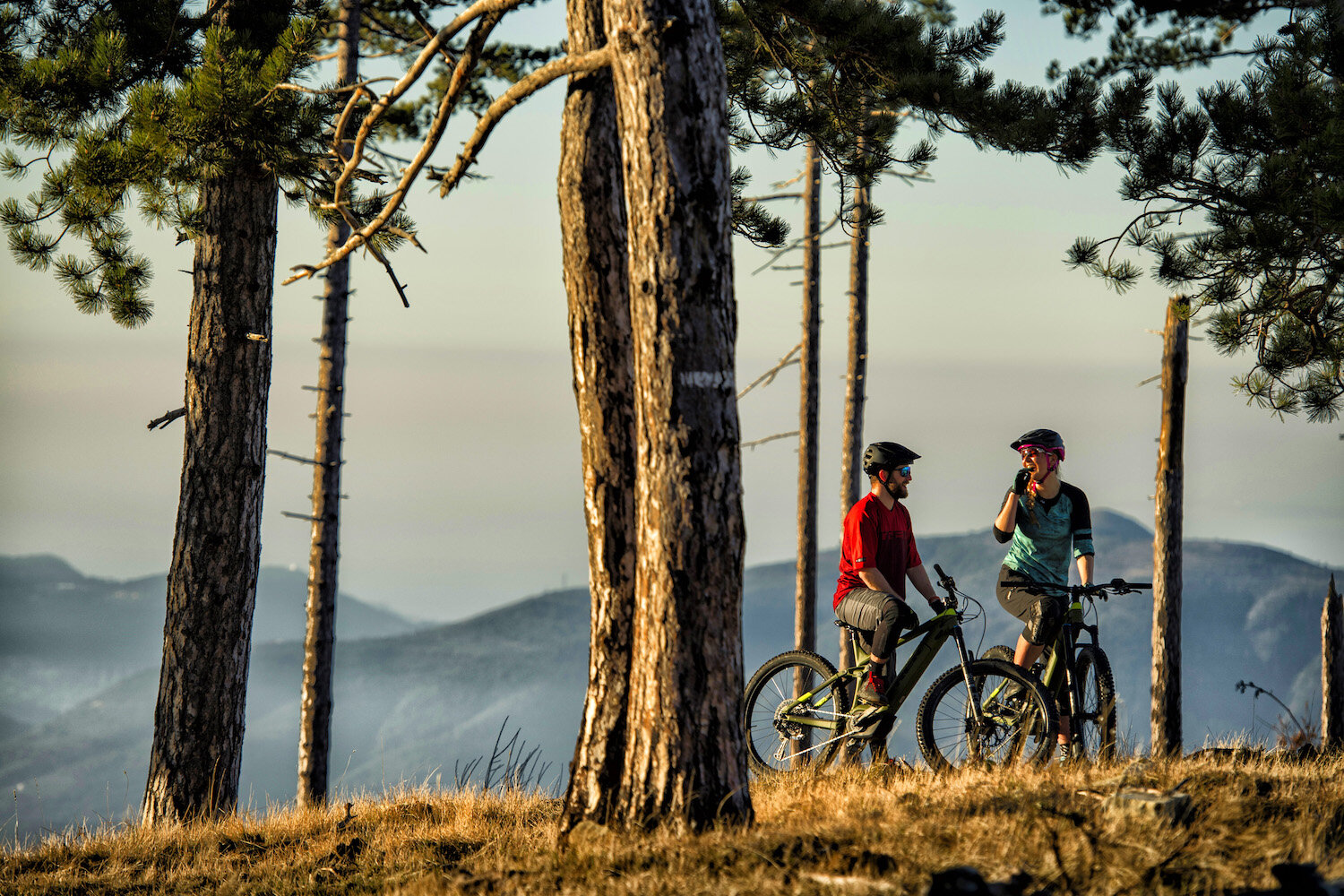 E-bikes level the playing field, allowing riders of varying skill, fitness, and experience levels to enjoy time together. (Trek Powerfly pictured.)