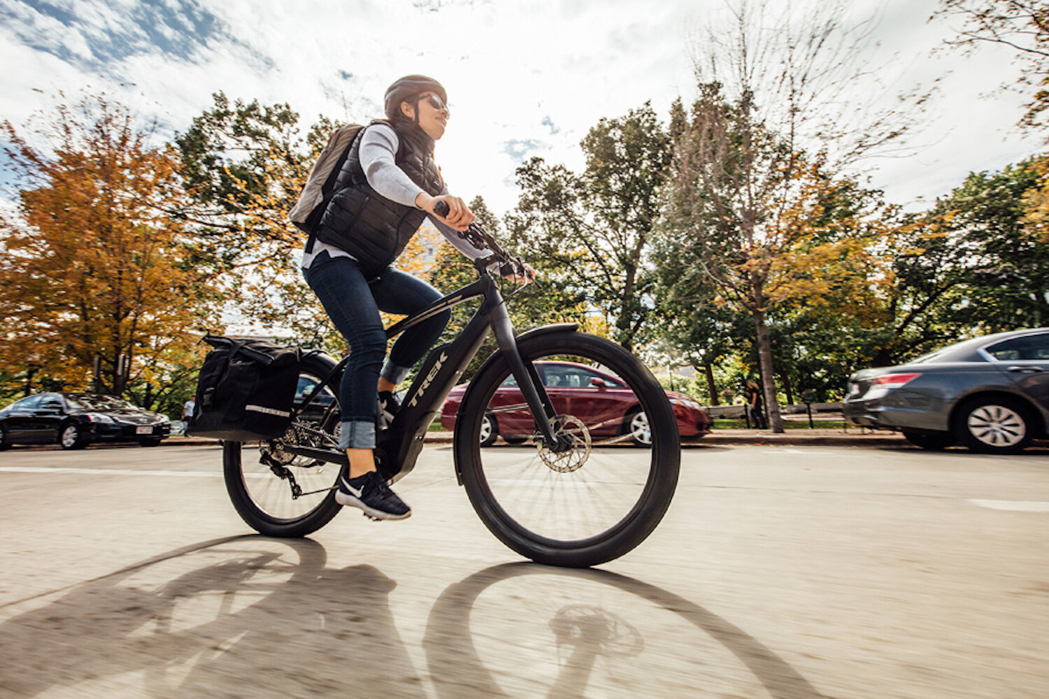 Pedal-assist e-bikes that we recommend include Trek Super Commuter+ (commuter/hybrid; pictured), Trek CrossRip+ (commuter/hybrid), Trek Super Commuter+ (commuter/hybrid), Trek Verve+ (commuter/hybrid), Trek Dual Sport+ (commuter/hybrid), and Trek Powerfly (mountain bike), as well as Electra Townie Go! (comfort/cruiser).