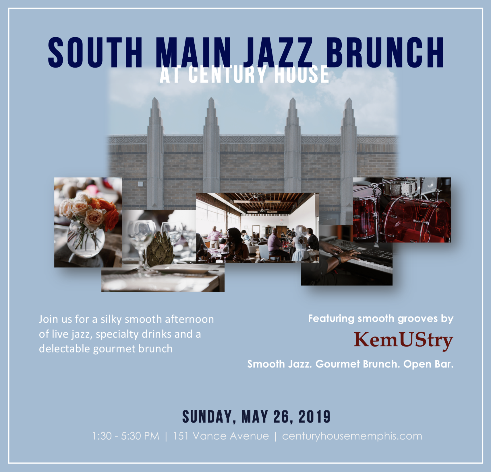 Join us for Memphis Jazz in South Main - Sunday, May 26 from 1:30 - 5:30 PM