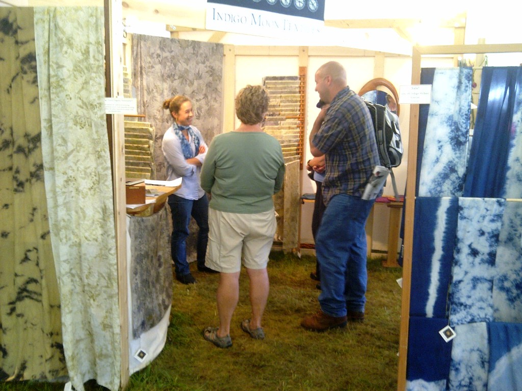 Indigo Moon Studio Booth at The Common Ground Country Fair, 2012