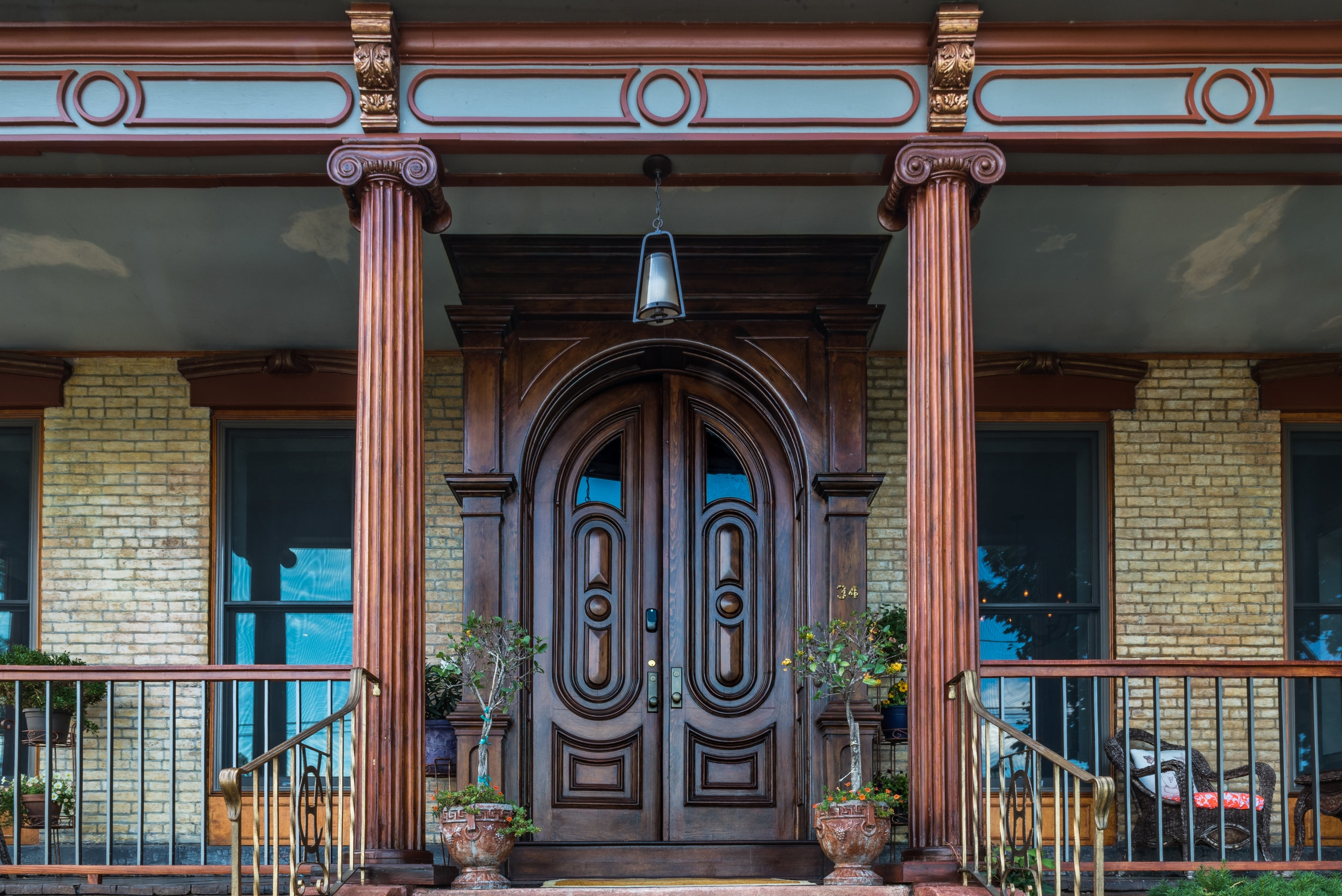 Restored Front Doors welcomes you at Casa Hudson