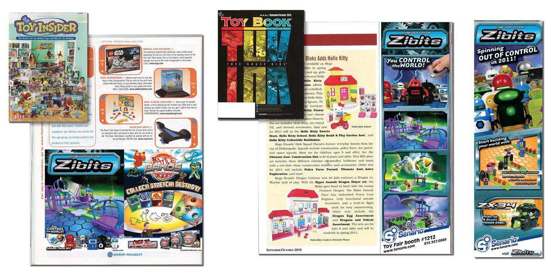 Trade magazine ads