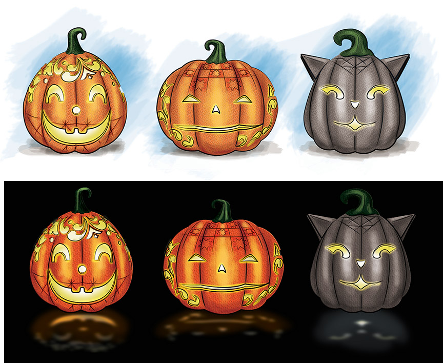 Jim Shore Lighted Pumpkins