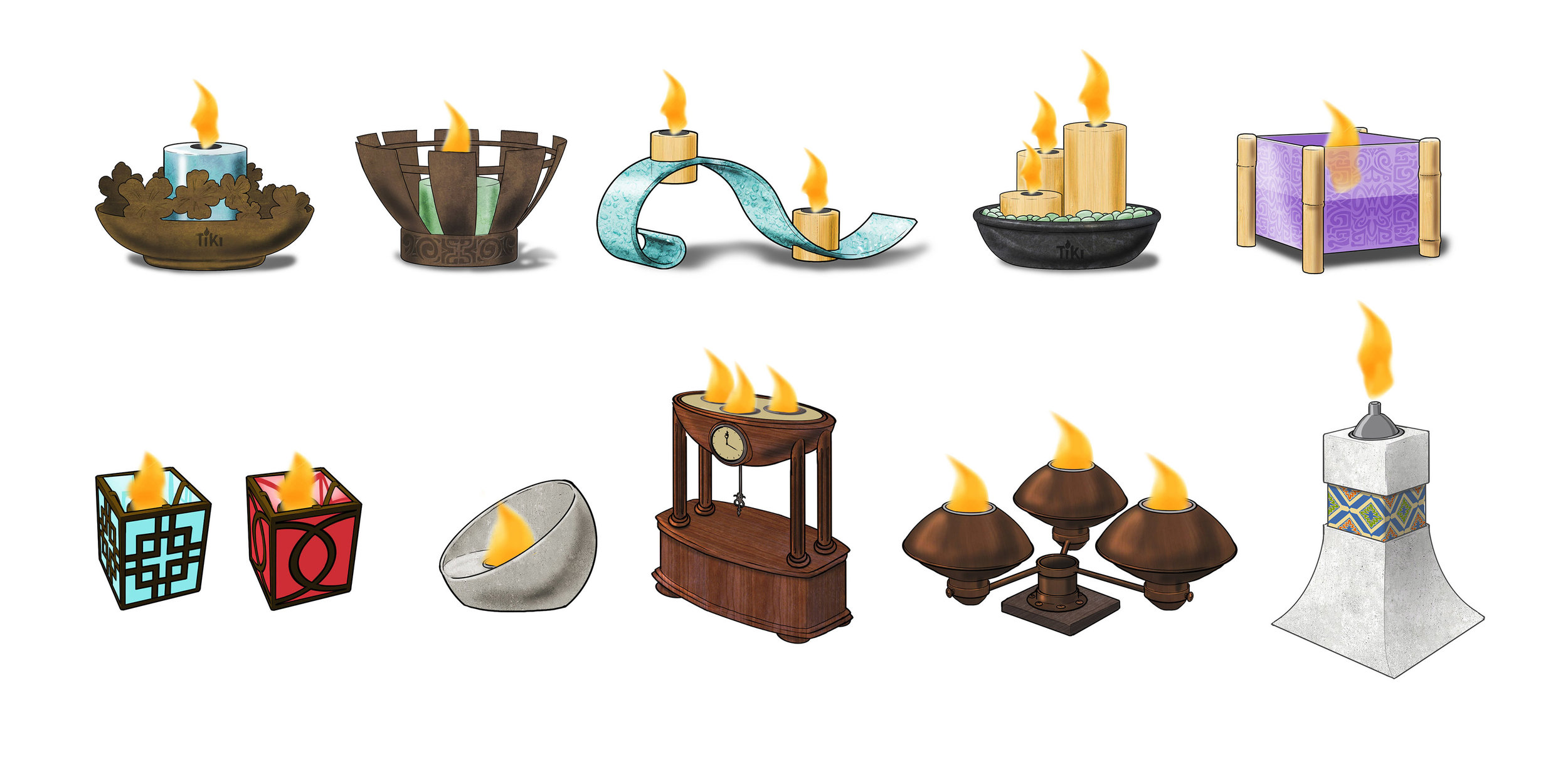 Clean-burning TableTop Candles