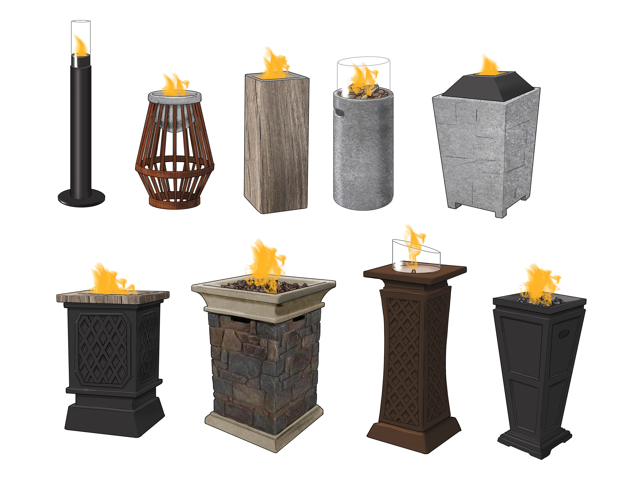 Fire Bowls and Torch Stands