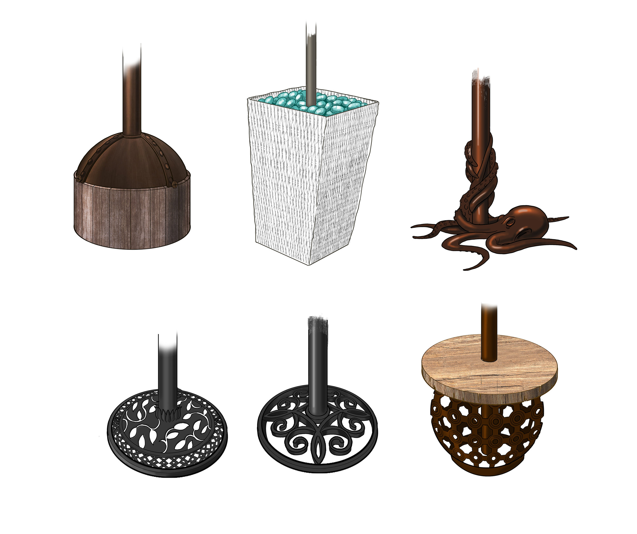 Decorative Torch Stands