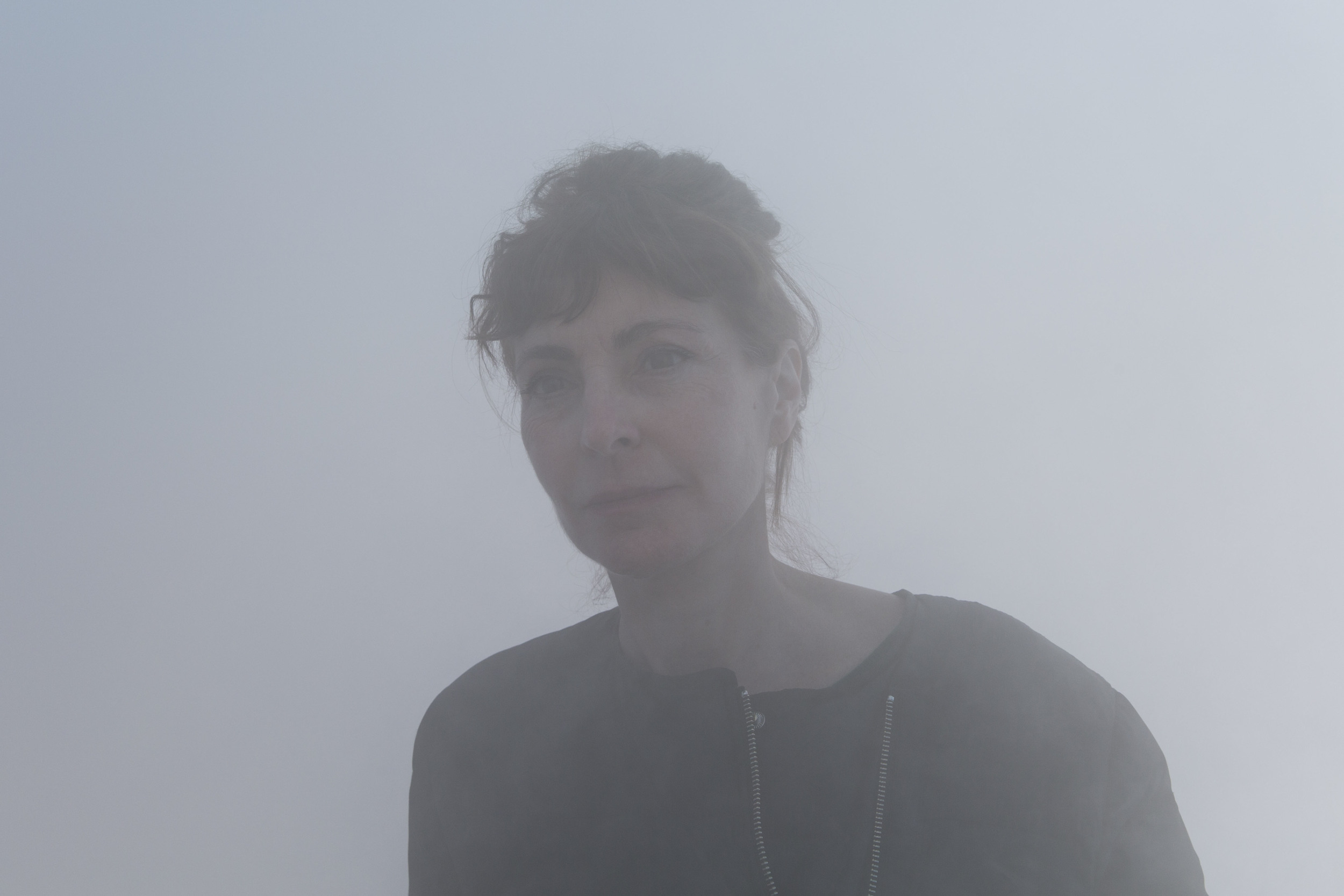 Portrait of Belgian artist Ann Veronica Janssens.