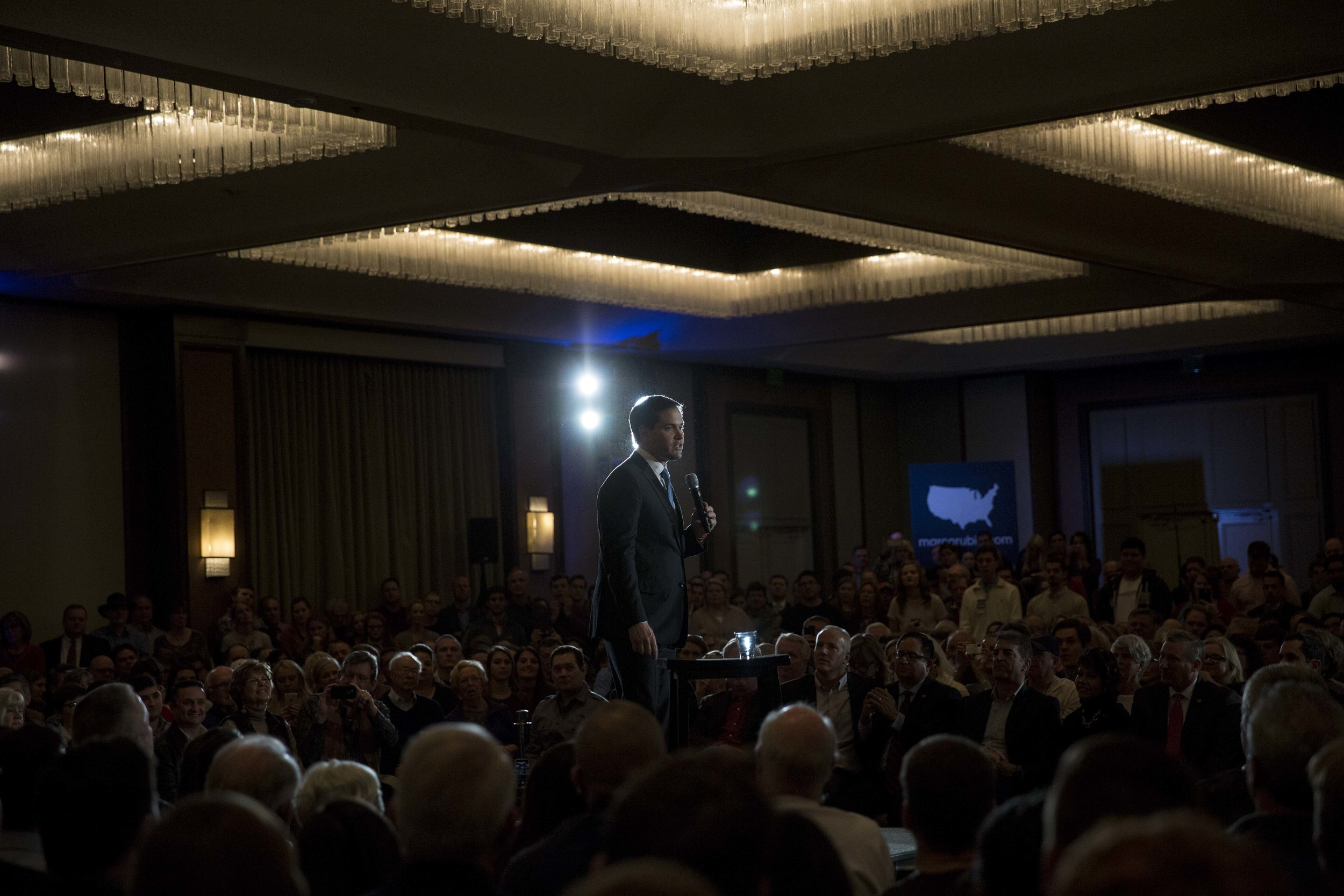 Marco Rubio speaking in Dallas, TX.