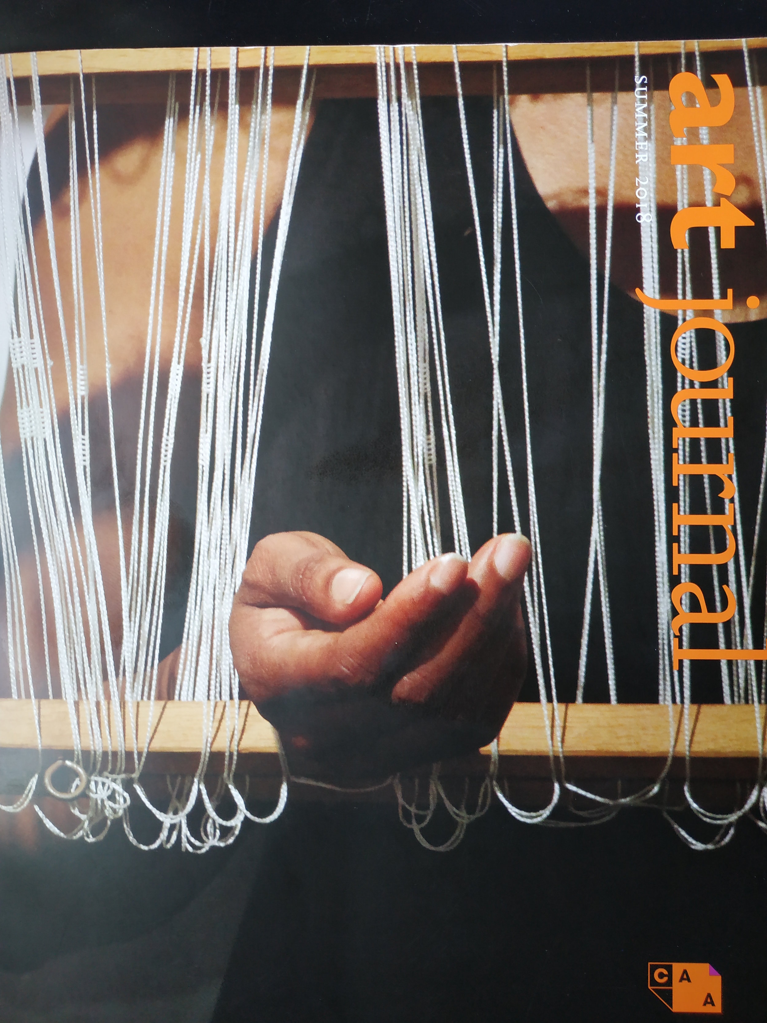 Indira Allegra ( collaboration ) - BODYWARP: Doublecloth - weaving as performance art using historical and emotional tension as material.
