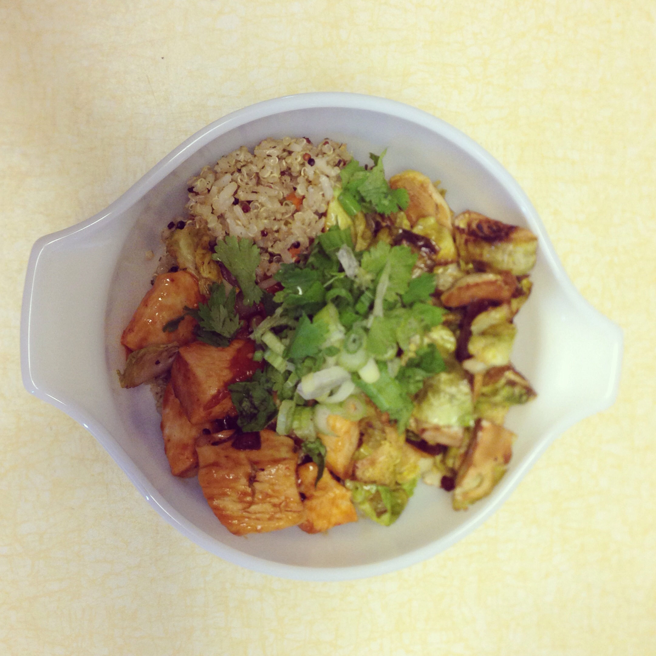 Siracha chicken with quinoa