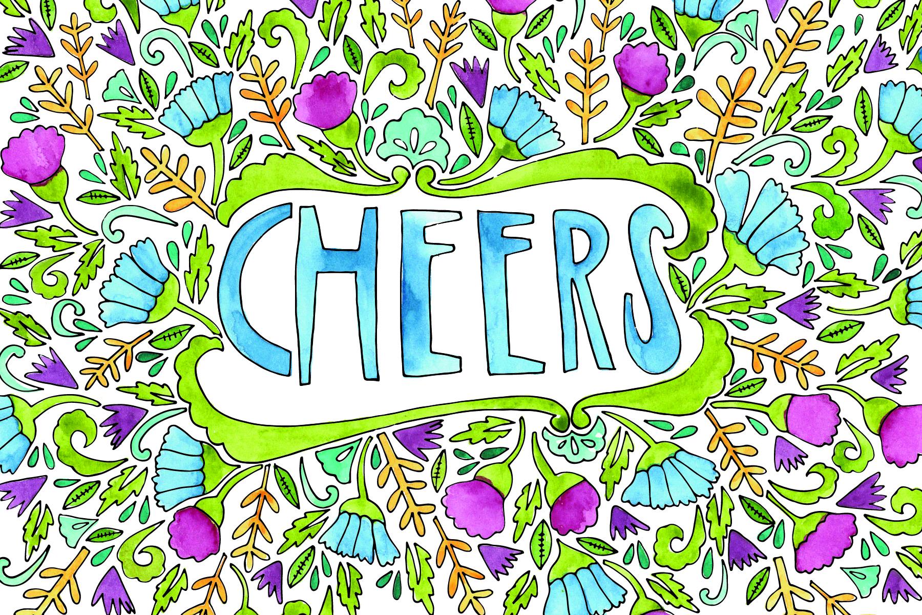 cheers recipe card