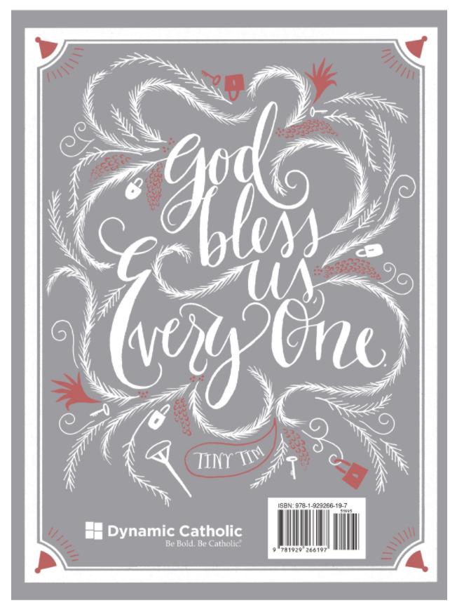 A Christmas Carol - Back Cover