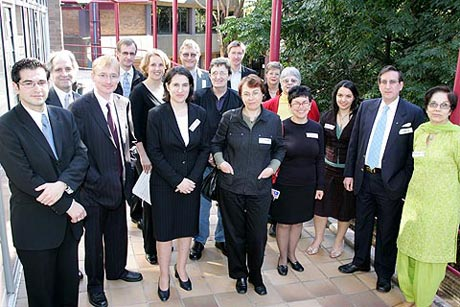 Pictured at the workshop are some of the presenters (from left): James Stellios, M.G. Michael, Simon Bronitt, Peter Croll, Holly Tootell, Katina Michael, Marcus Wigan, Lauren May, Mark Burdon, Lucy Resnyansky, Margaret Jackson, Jennifer Seberry, Mary Barrett, Roba Abbas, Chris Puplick and Supriya Singh (absent are Mark Rix and Suzanne Lockhart)
