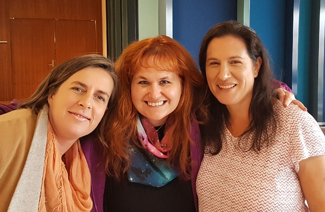 """L to R: Kobi Leins, Margaret Kosal, Katina Michael in the Bio- and Nanoscience Track chaired by Jai C. Galliot at the """"Future of Wars and Public Conscience: Ethical, Legal & Social Implications of Emerging Military Technologies"""" 29-30 May 2017 at the Law School, University of Melbourne"""