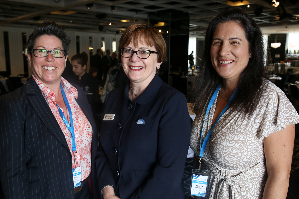Kate Foy, Nerida O'Loughlin (ACMA Chair), Katina Michael. Nerida took the helm of ACMA Chair some 13 days prior to the conference. The first woman to hold this role. An honour to have met two of Australia's finest women leaders! Kate I have admired for some time in her role- familiar names in the work I did for the Australian Research Council LBS study (discovery grant) on National Emergency Warning Systems with Dr Anas Aloudat and Dr Roba Abbas.