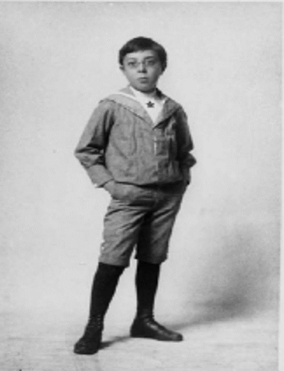 Fig. 2. Norbert Wiener at age 9 (courtesy of MIT Museum).