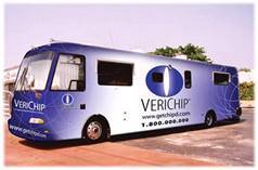 "The original ""Get Chipped"" campaign by the Verichip company."