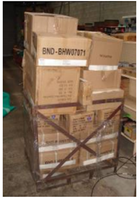 Exhibit 2. Delivery pallet with tagged cartons
