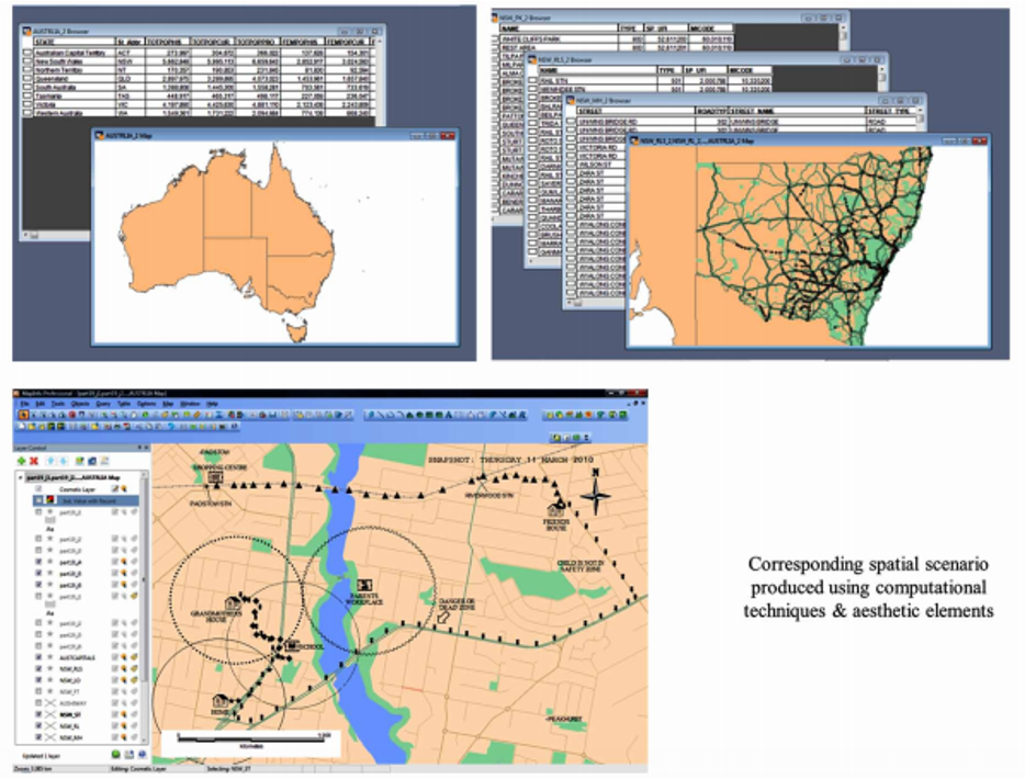 Figure 3. Computation of obfuscated participant location information using MapInfo layers