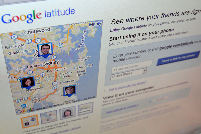 Technology like Google Latitude enables people to track their friends, relatives and even partners in real time  (Source: ABC News)