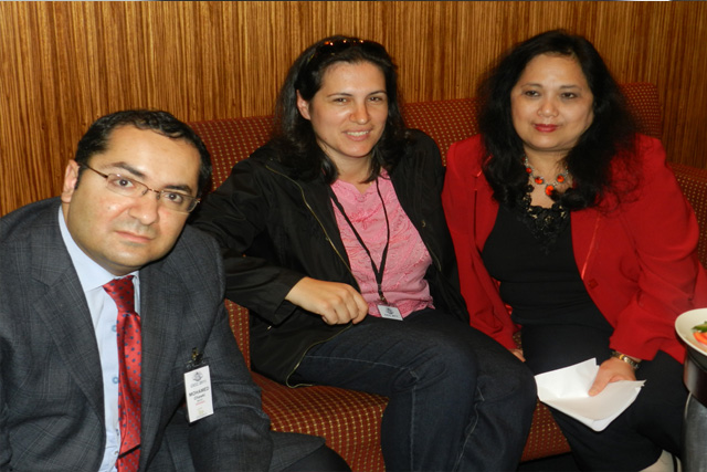 Dr Mohamed Chawki, Dr Katina Michael and the late Sylvia Mercado Kierkegaard in Sydney at the Cybercrime Prevention Conference in 2011