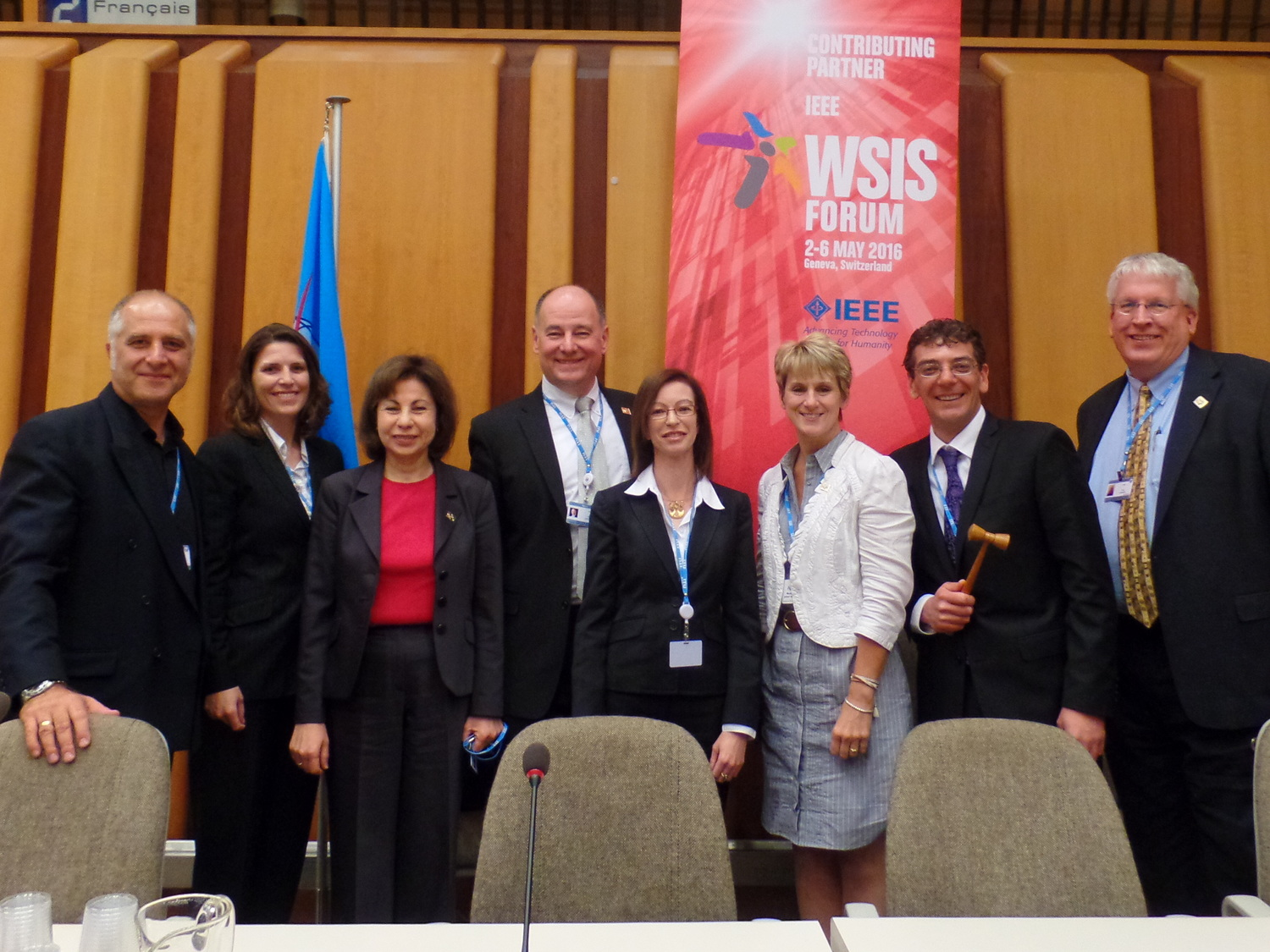 MG Michael with fellow IEEE Panelists at the WSIS Forum 2016 (Geneva, Switzerland)