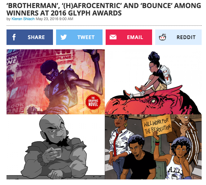 'Brotherman', '(H)afrocentric' and 'Bounce' Among the Winners at the 2016 Glyph Awards