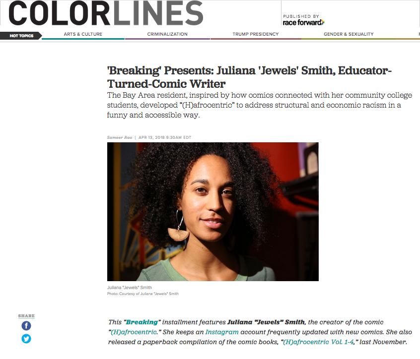 "'Breaking' Presents Juliana ""Jewels"" Smith, Educator Turned Comic Book Writer."
