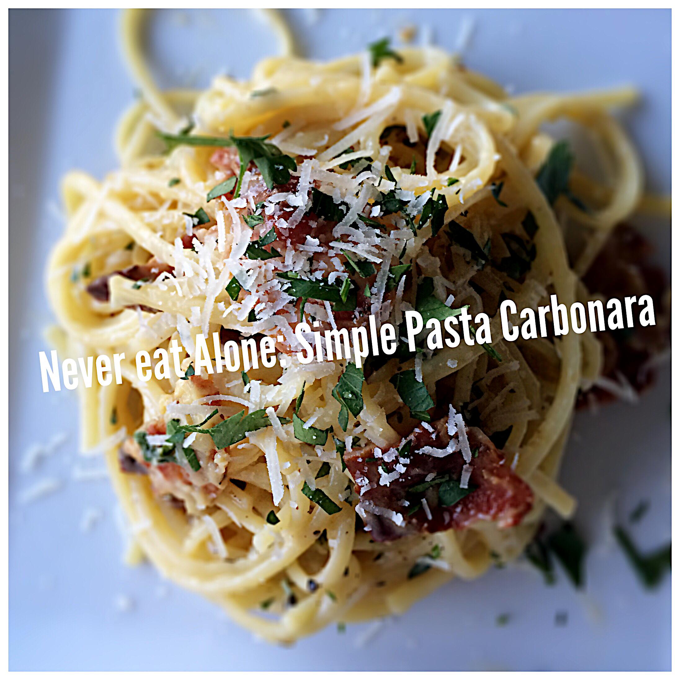 Simple Pasta Carbonara