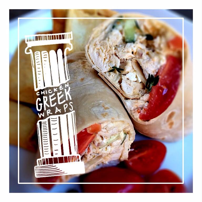 Greek Chicken Wraps