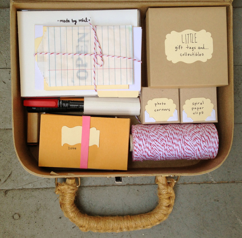 made by miel > correspondence kit customized for a friend when she relocated to new town