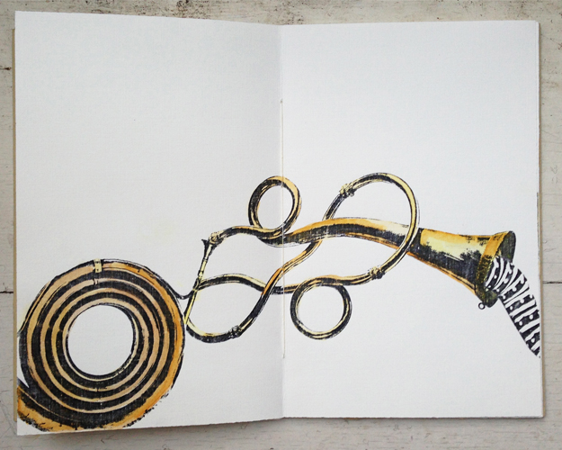 artist book > illustrating the transformation and travels of little creature winding through the wind