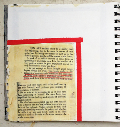 collage > journal page with inspiration from robert henry's the art spirit