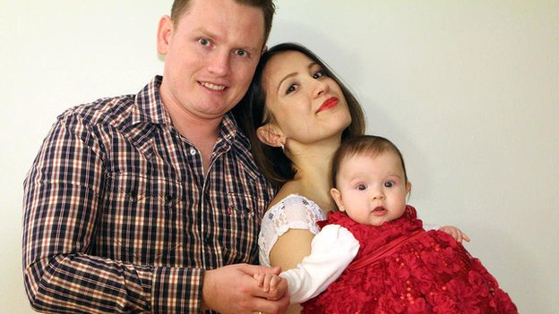 Alexander Sodiqov's family released a photo of him with his wife Musharraf and young daughter.