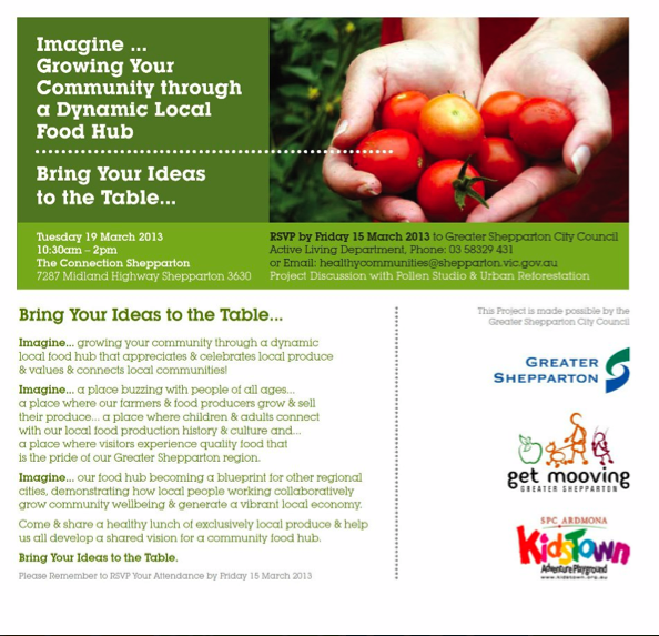 """Visioning, sharing IDEAS at """"Local Lunch - Bring Your Ideas to the Table""""."""