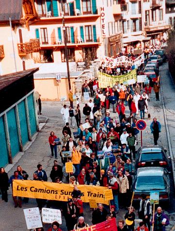 9 avril 2002, manifestation Chamonix