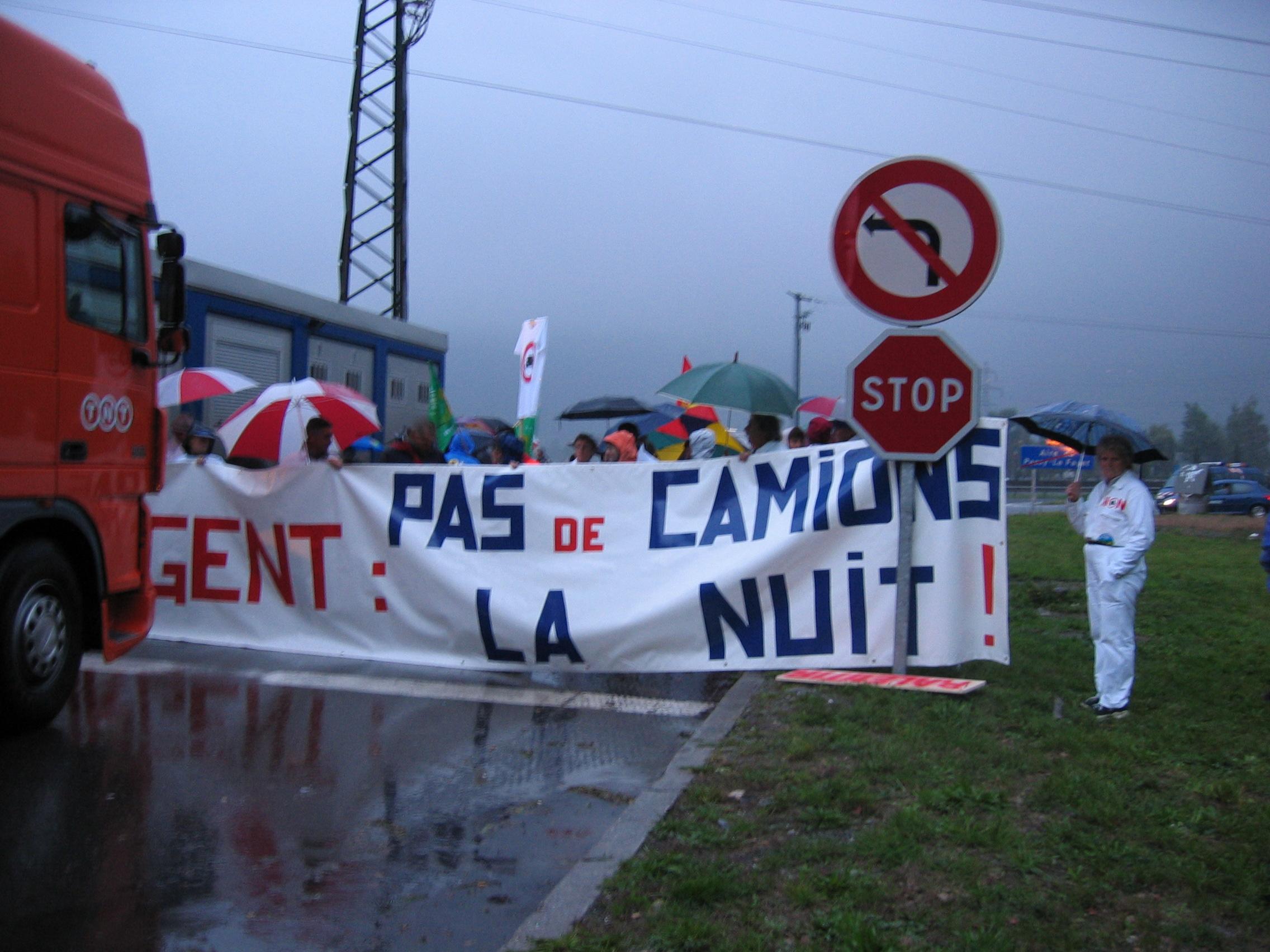 4 octobre 2003, journée d'action ITE