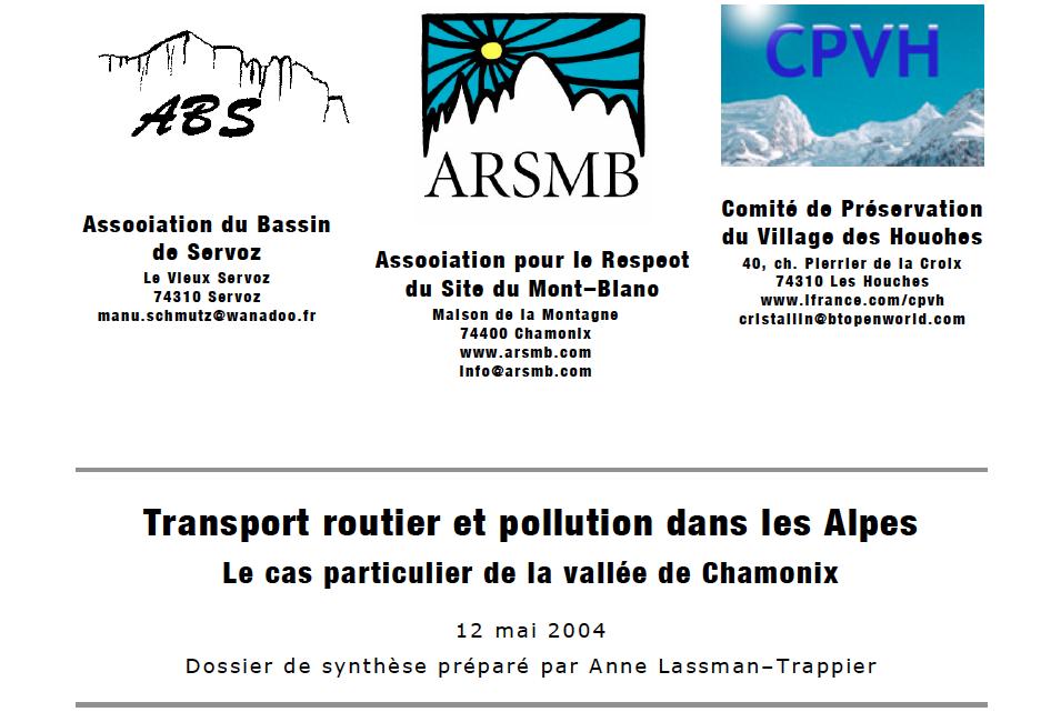 2004, dossier transports et pollution de l'air