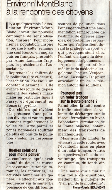Le Dauphiné Libéré - 23 février 2014