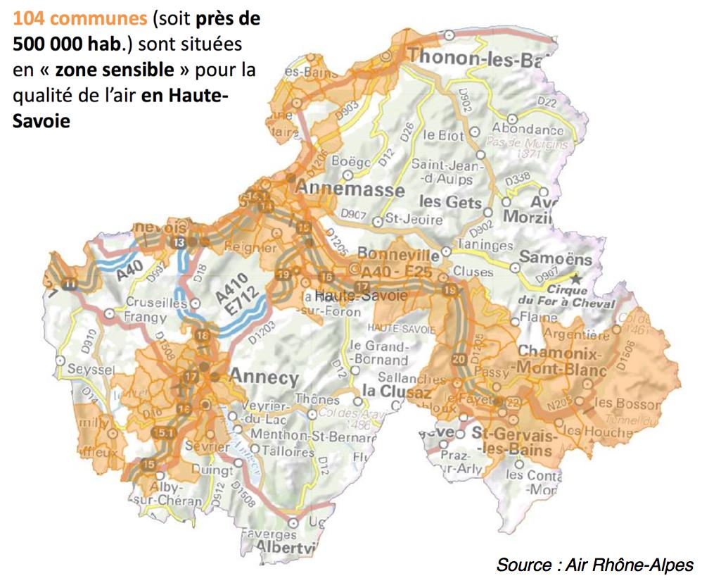 500.000 personnes vivent en zone sensible pour la pollution de l'air