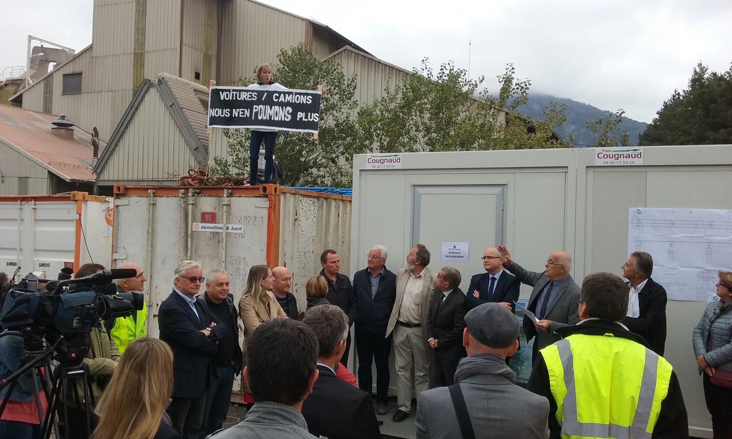 Octobre 2016: l'ARSMB s'invite à la visite officielle du chantier