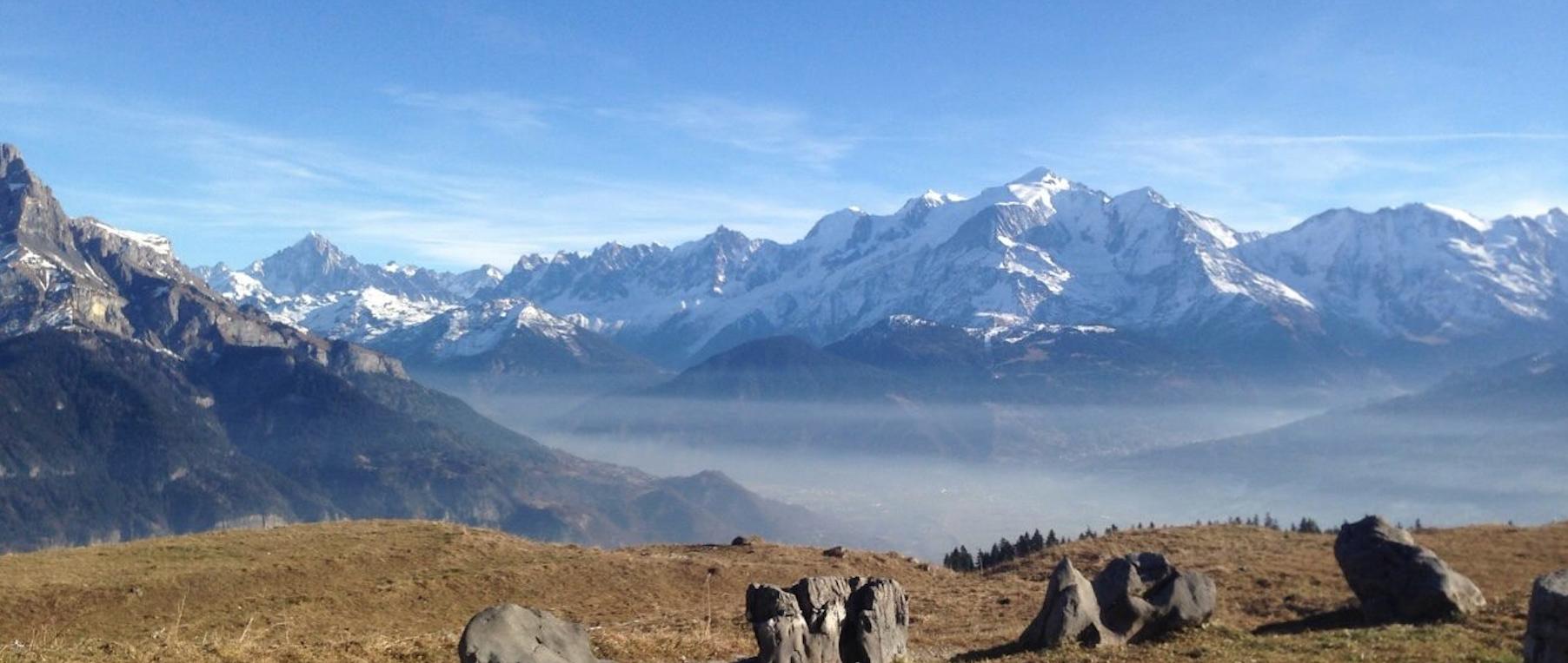 Le pays du Mont-blanc sous un voile de pollution - Décembre 2016