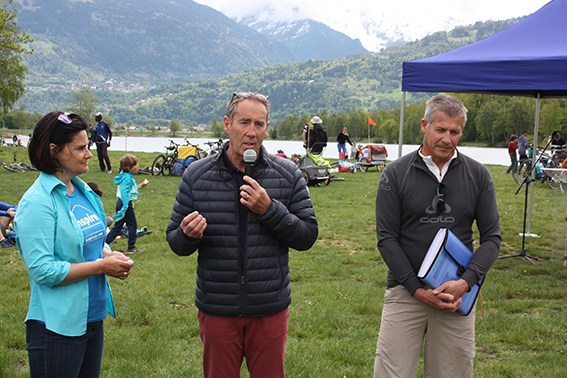 Anne Lassman Trappier ,  Patrick Kollibay  et Daniel Duret, élu à Passy.