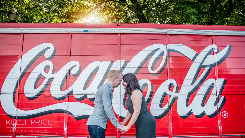 Engagement Session - Capturing the Atlanta Spirit with Coca-Cola