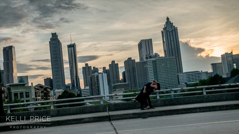 Engagement Session - Sunset on Jackson Street Bridge, Atlanta